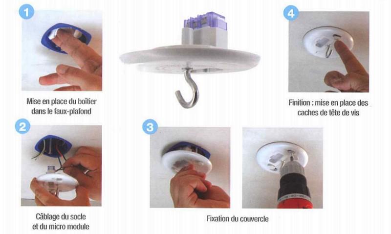 blm boitier d encastrement pour micromodule version clairage plafond je pilote ma maison. Black Bedroom Furniture Sets. Home Design Ideas